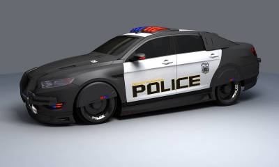 Futuristic Police Car